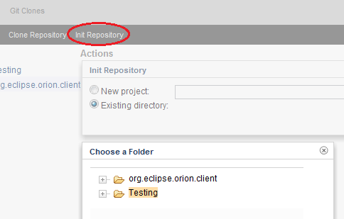 how to create a git repository from an existing folder