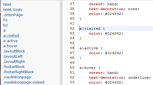 css table outline