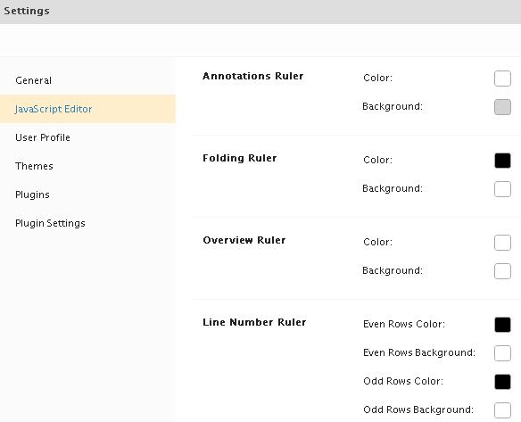 Editor ruler settings