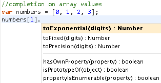 Sample of infering array value type